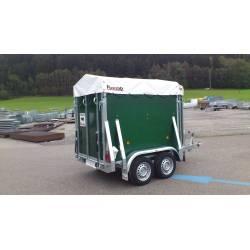 Viehanhänger, Pongratz VA 145 T, 1600 kg, mit Plane, Tiertransporter für max. 2 GVE